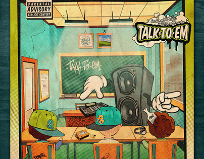 ACHoodFella X Slide Beatz - Talk to em / cd cover