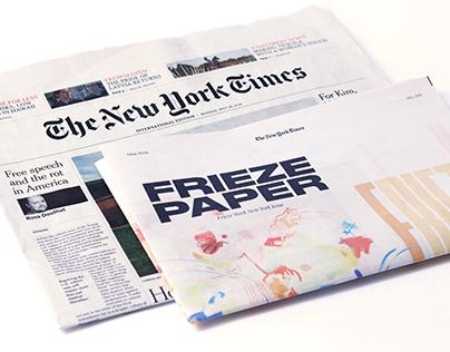 Frieze Paper. Newspaper supplement