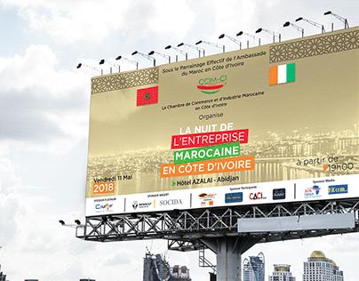 Affiche de lancement d'un événement Institutionnel