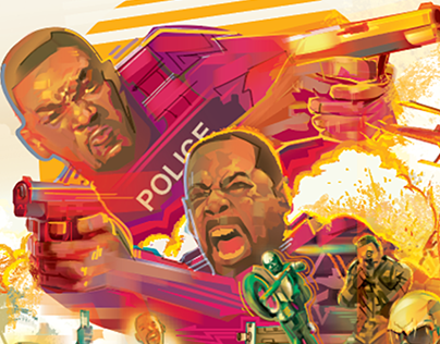 BAD BOYS FOR LIFE- Vector Poster