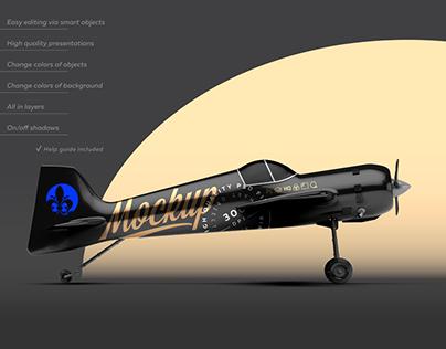 BLACK AEROBATIC AIRCRAFT MOCKUP