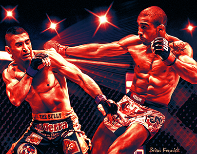 Jose Aldo in action