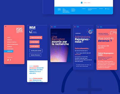Webdesign site internet ISIS