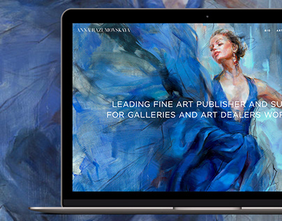 Anna Razumovskaya - website design