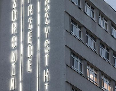Neon typography installation