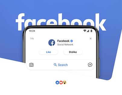 Facebook - App Redesign Concept 2019