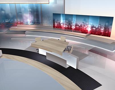 Virtual Set News / Debate SIC TV Channel 2019