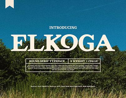 Elkoga - Round Serif Typeface