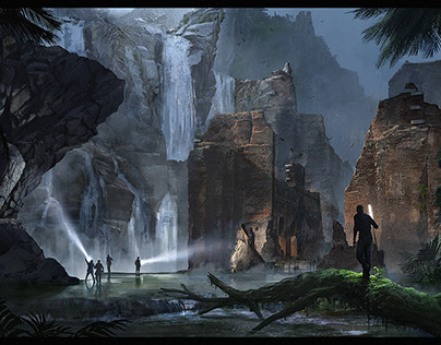 Old Environment Concept Art works