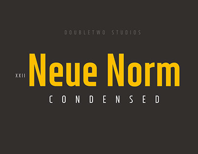 XXII Neue Norm - Font Family