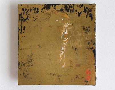 LOVE series / Gold leaf testing 01.02
