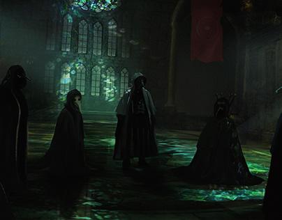 Dark meeting Concept art
