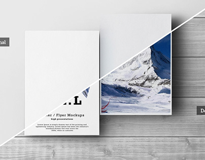 Free Download A3-A4-A5 Flyer Mockups