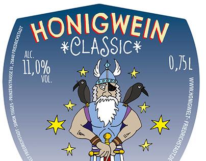 Etikettendesign Honigwein