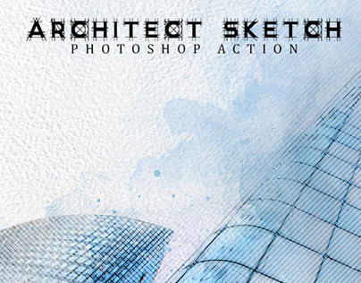 Architect Sketch Photoshop Action