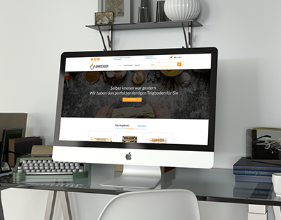 Flammkuchen24.de Landing Page Design