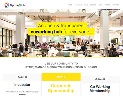 Co working space UX/UI