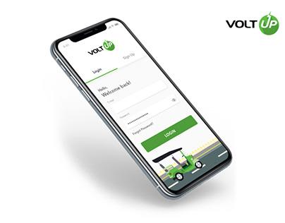 VoltUP Login screen design