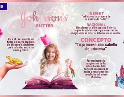 Johnson's Glitter - Launch Brand.
