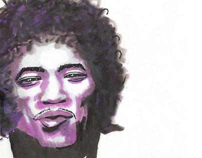 Jimi Hendrix - marker, pen & ink doodle
