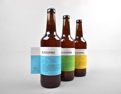 Blydoping Beer labels