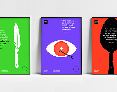Graphics series for CIB Culinary Institute of Barcelona