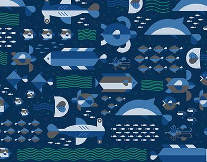 Textile Print Design - Save Our Oceans