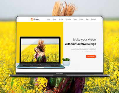 Landing page UI Design for Creative agency, Corporate