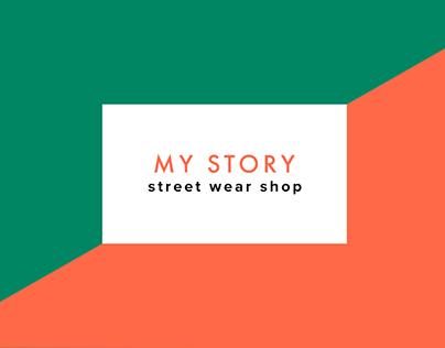 MY STORY. Web design.