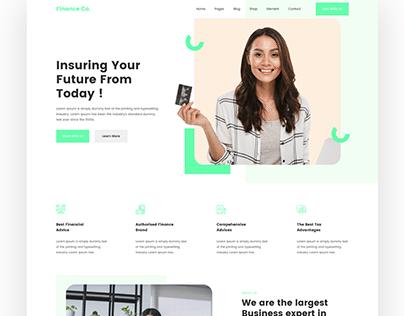 Finance Company Landing Page design