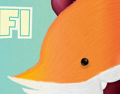 Rafi the fox - Illustration for a newborn baby