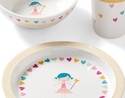 Fairy Melamine Dish Set