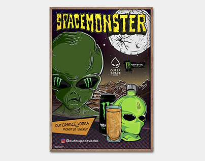 SPACEMONSTER for OUTERSPACE Vodka