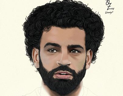 Salah Portrait drawing Oz Galeano