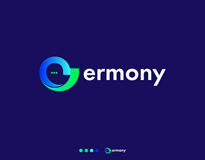 ermony chatting app logo, Modern E