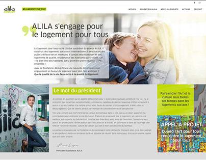 Fondation Alila, Website