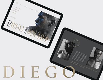 DIEGO SANCHEZ Exhibition Landing Page