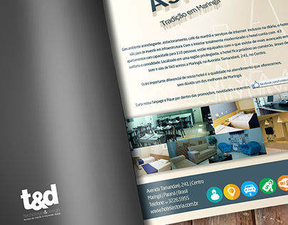 Criação de layout para anúncio em revista.