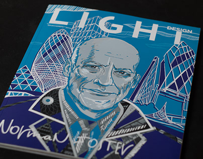 The Cover page for the Light Design magazine