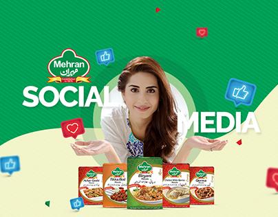 Social Media Post Designs for MEHRAN SPICE & FOOD Vol-2