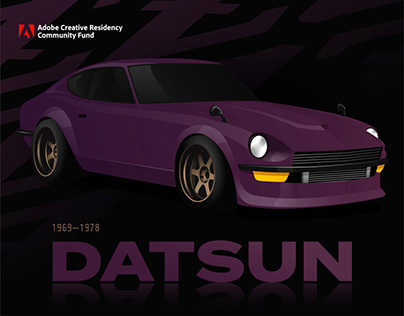 Datsun Tribute - Adobe Creative Residency Commission