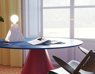   Geo Light    Terrazzo Table Lamp