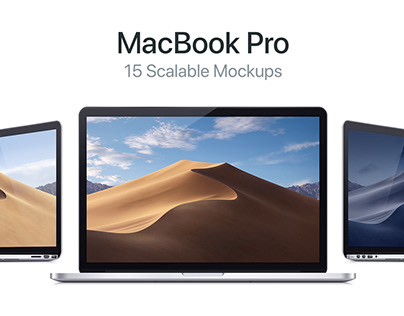 MacBook Pro. 15 Scalable Mockups