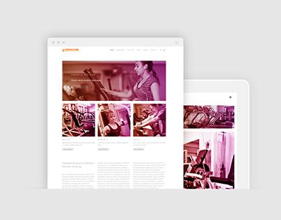 Website design and development Formula One Gym