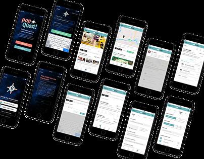 PopQuest—Experiential education mobile prototype.