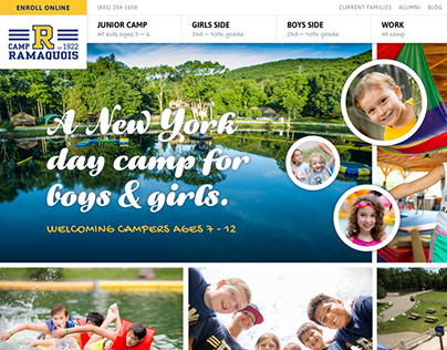 Camp Ramaquois Website Redesign