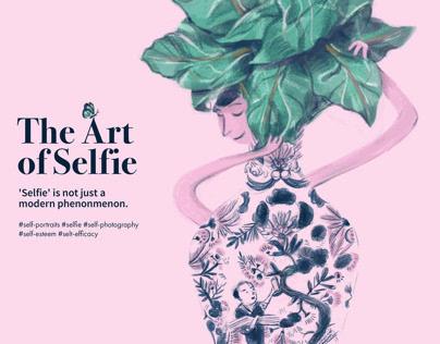 The Art of Selfie concept