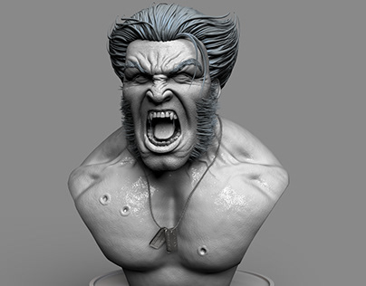 Wolverine Bust - 3D print and mold