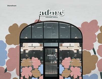 Cosmetic Brand 'adoré' Branding