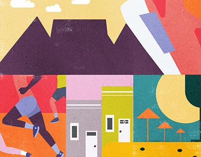 Cape Town Marathon | Concept Illustration